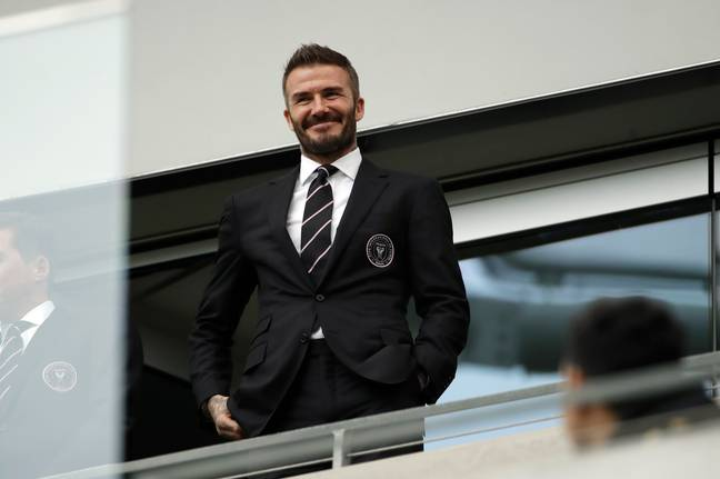 Beckham might not still be playing but was still second on the list. Image: PA Images