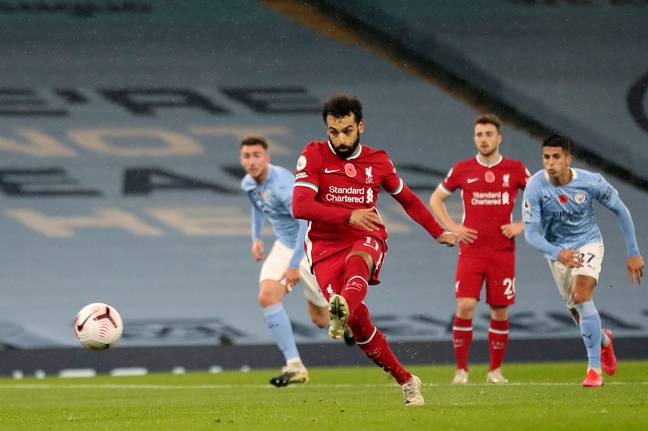 Salah scored for Liverpool in his most recent game. Image: PA Images