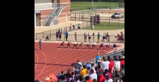 On the starting line. Credit: NFHS Network