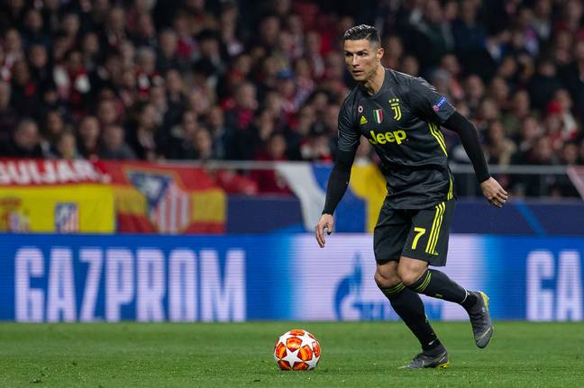 Ronaldo with the ball at his feet. Image: PA Images