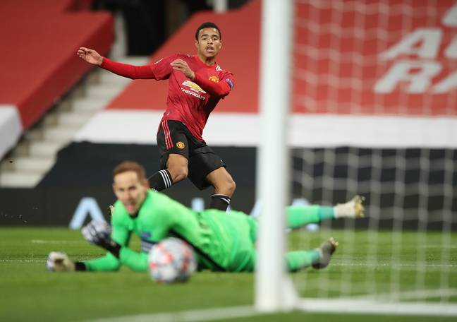Greenwood opened the scoring last month against RB Leipzig. Image: PA Images