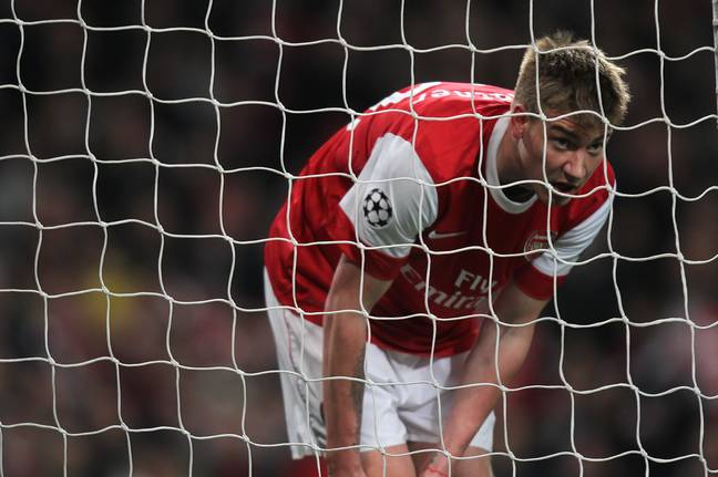 Things didn't work out for Lord Bendtner at Arsenal. Image: PA Images