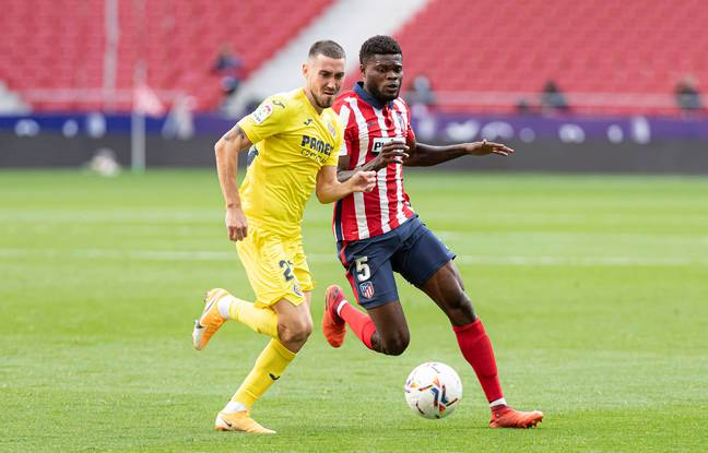 Partey playing for Atleti at the weekend. Image: PA Images