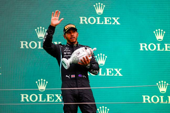 Hamilton wasn't looking his usual self on Sunday. Image: PA Images