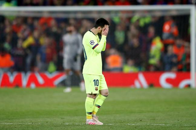 Messi dejected after the final whistle. Image: PA Images
