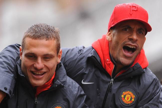 Vidic and Rio together. Image: PA Images
