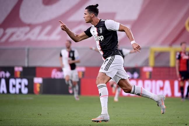 Ronaldo celebrates his latest goal. Image: PA Images