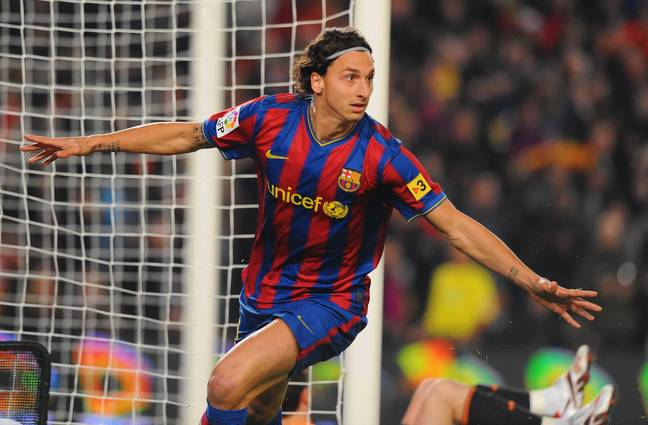 Zlatan's time at Barcelona started well but soured quickly. Image: PA Images