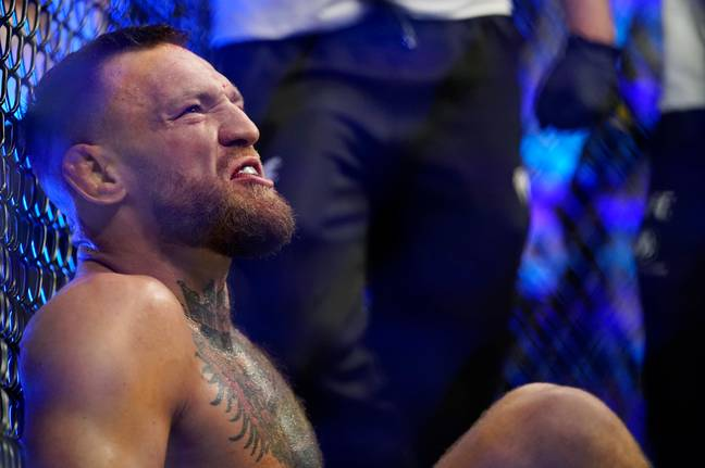 McGregor continued to shout insults whilst sat on the octagon floor. Image: PA Images