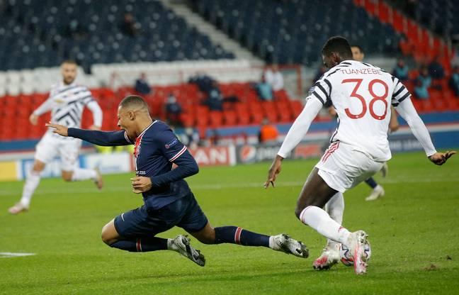 Tuanzebe helped keep Kylian Mbappe quiet. Image: PA Images