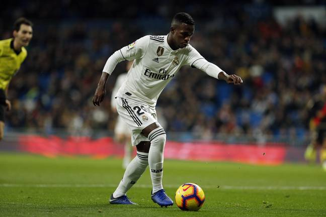Vinicius playing against Real Vallecano. Image: PA Images
