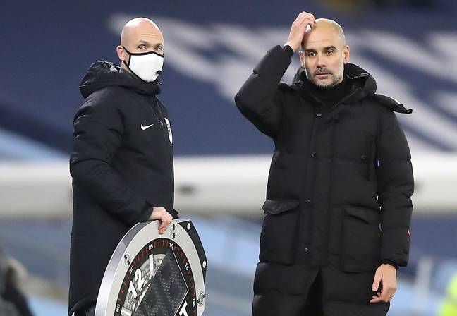 Pep will be scratching his head to see his side finish in eighth. Image: PA Images