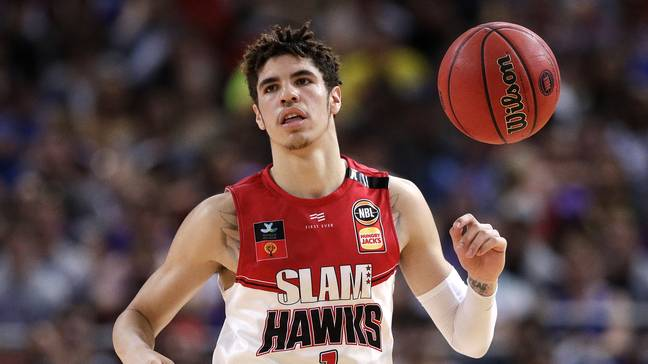 LaMelo Ball playing for the Hawks. Credit: PA