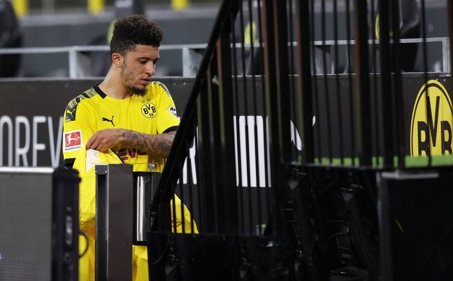 Sancho is expected to join United this summer. Image: PA Images