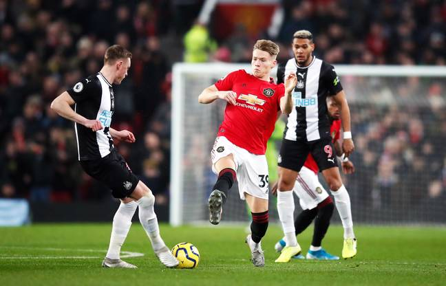 Scott McTominay could've seen red for an early challenge on Sean Longstaff