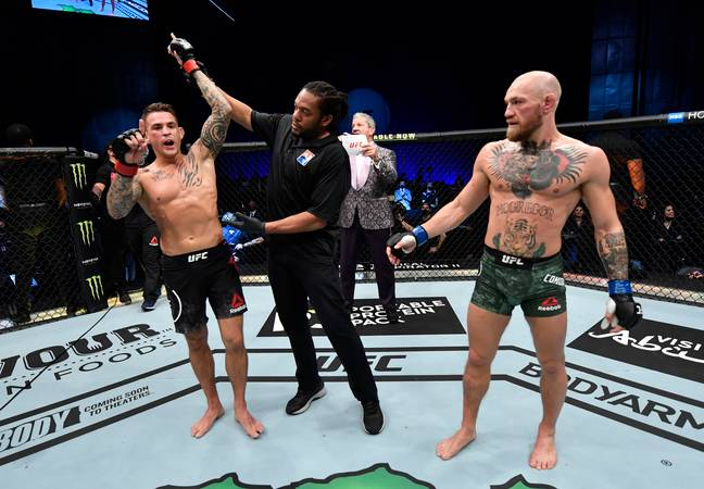 Dustin Poirier upset the odds to beat Conor McGregor at UFC 257. Credit: PA