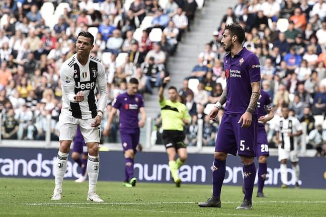 Ronaldo celebrates against Fiorentina. Image: PA Images