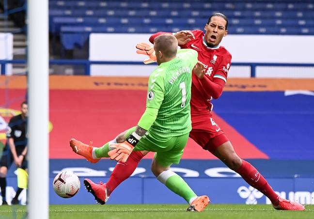 Van Dijk's injury came very early in the season against Everton. Image: PA Images
