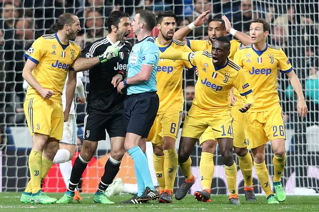 The end of Buffon's Champions League career ended in the least classy way possible. Image: PA Images