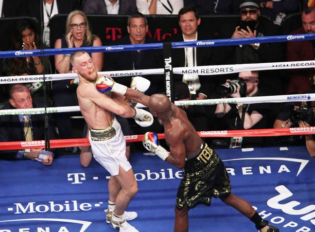 Mayweather and McGregor fought in 2017. Image: PA Images