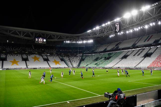 No games in England were played behind closed doors but they were in Italy. Image: PA Images