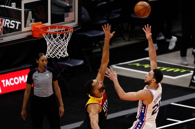 Ben Simmons dropped 42 points against Rudy Gobert and the Utah Jazz. Credit: PA