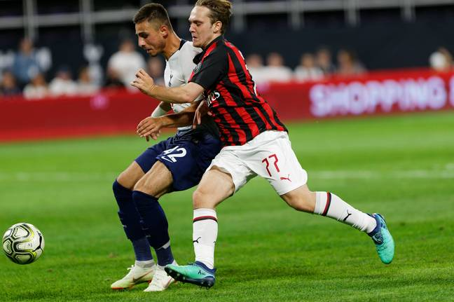 There's not much evidence of Halilovic playing for Milan. Image: PA Images