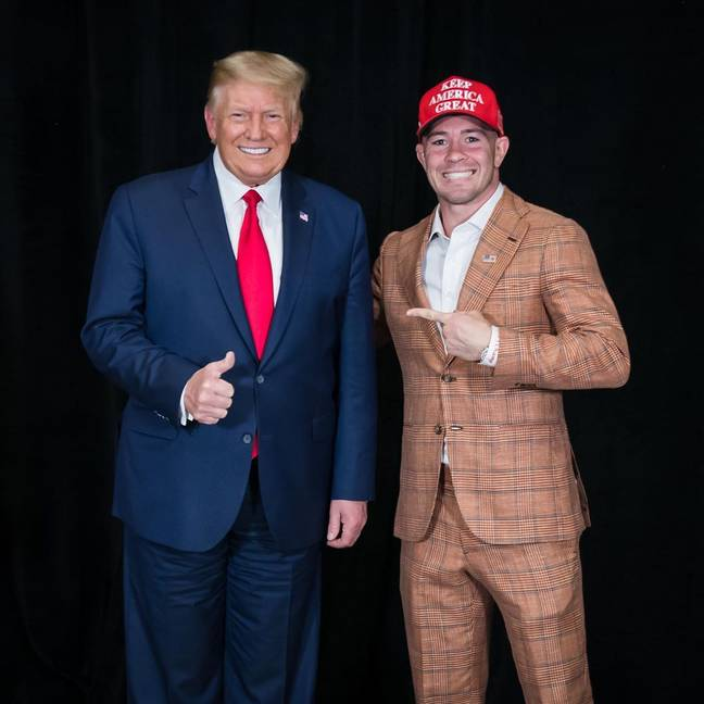 Colby Covington is a Donald Trump super-fan. Credit: Instagram