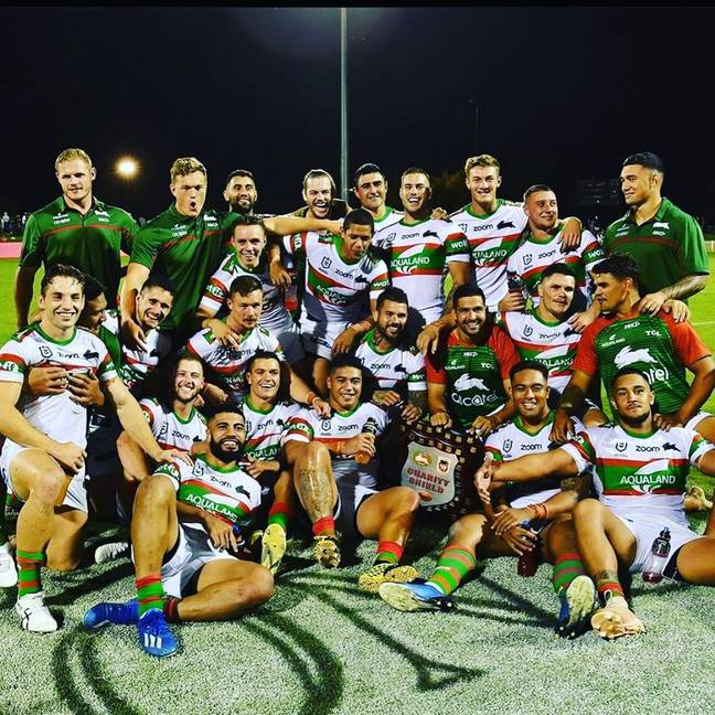 Souths take on the Panthers in the preliminary final. Credit: Instagram/@coreyallan98