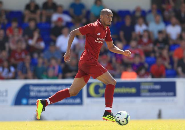 Fabinho in action for Liverpool. Image: PA