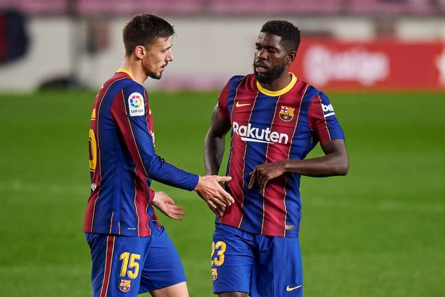 Lenglet and Umtiti could both be leaving Barcelona this summer. Image: PA Images
