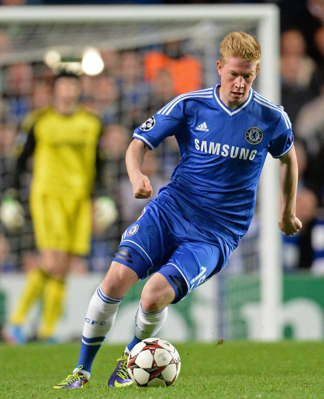 De Bruyne also made several substitute appearances in the Champions League for Chelsea. Image: PA