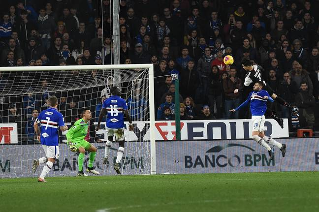 Ronaldo scored a ridiculous header against Sampdoria recently. Image: PA Images