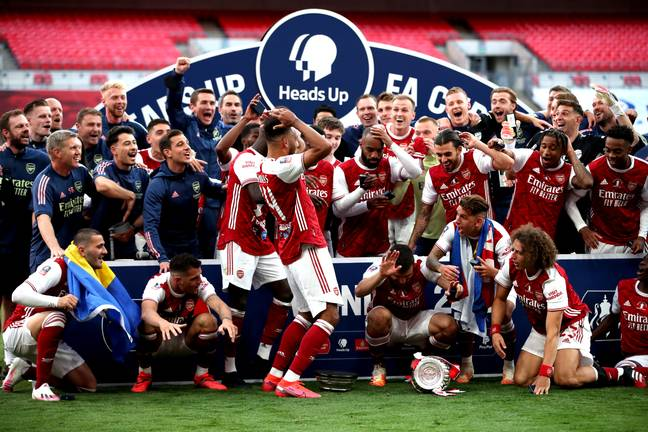 The hilarious moment Pierre-Emerick Aubameyang dropped the FA Cup trophy seems a long time ago. Image: PA Images