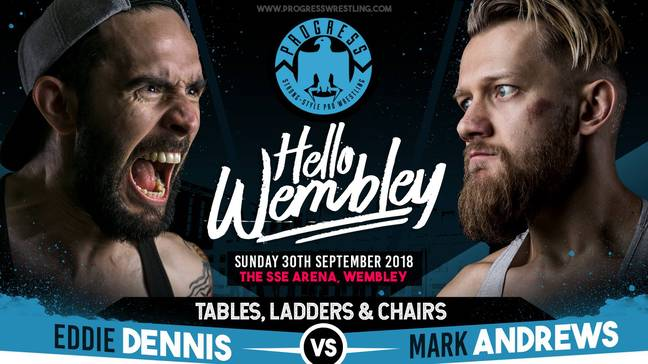 Dennis vs MAndrews is one of the most hotly anticipated matches of the night. Image: PROGRESS Wrestling