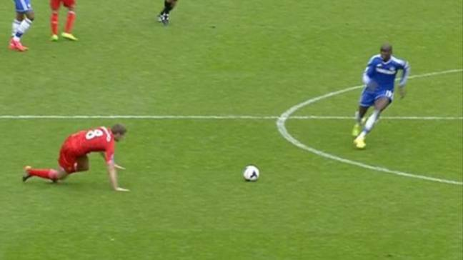 Gerrard slipped under no pressure and Ba was away. Image: Sky Sports