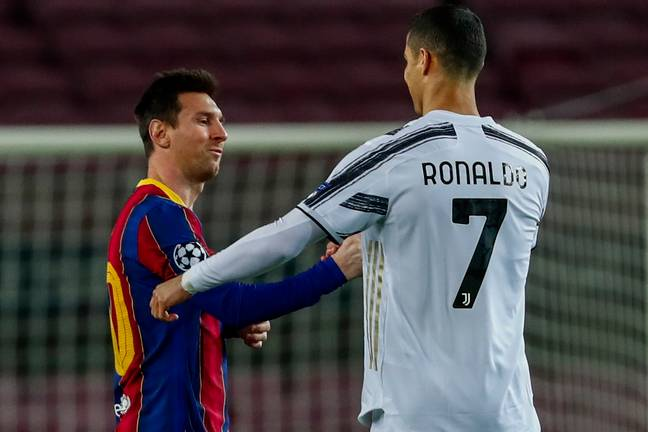 Messi & Ronaldo in the second game, which Ronaldo got to feature in. (Image Credit: PA)
