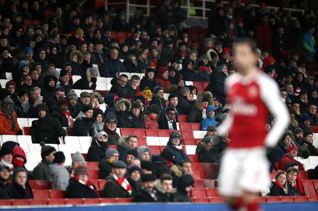 There's been a lot of empty seats at Arsenal recently for numerous reasons. Image: PA Images