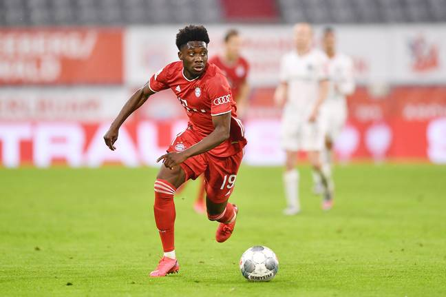 Alphonso Davies has been very impressive for Bayern this year. Image: PA Images