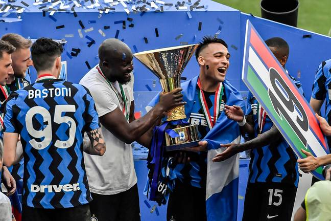 Lukaku was Inter's top scorer as they won Serie A. Image: PA Images