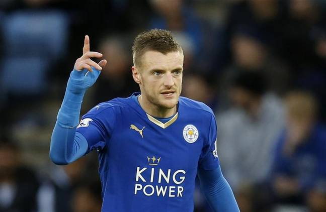 Jamie Vardy celebration
