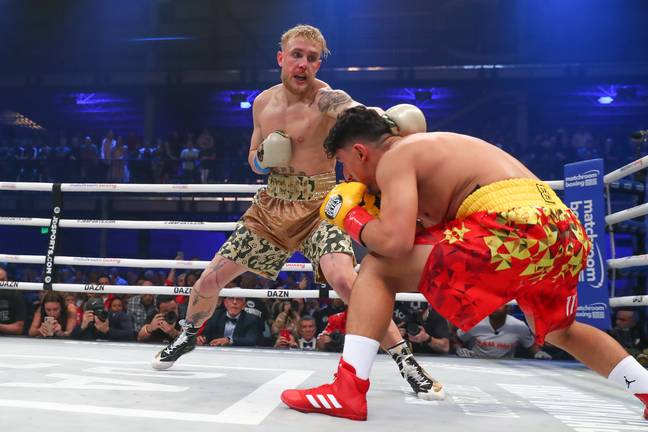 Jake Paul during his only previous professional boxing fight. Image: PA Images