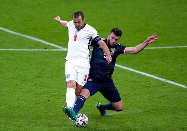 Kane struggled to make an impact against Scotland. Image: PA Images