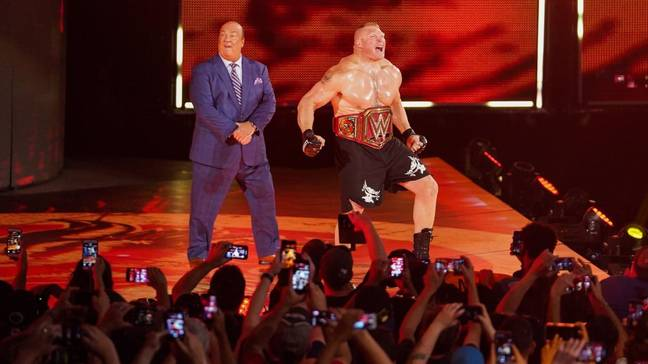 Until just over a week ago Lesnar was WWE Universal champion. Image: WWE