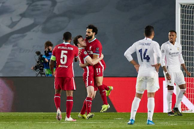 Salah's goal gives Liverpool a chance. Image: PA Images