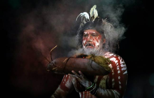 An Indigenous performer during the opening ceremony of the Gold Coast 2018 Commonwealth Games. Credit: PA