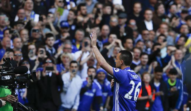 Terry says goodbye to Chelsea fans. Image: PA Images