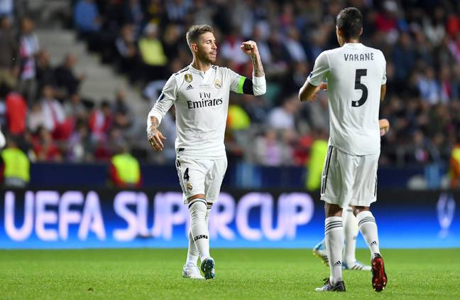 Varane and Ramos built a brilliant partnership over the past decade. Image: PA Images