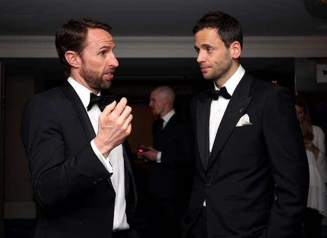 Southgate no doubt telling Purkiss that any Kane failure at the World Cup is his fault. Image: PA Images