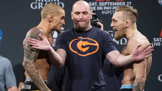 Conor McGregor and Dustin Poirier. Credit: UFC ANZ